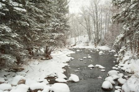 Eagle River Colorado in Winter