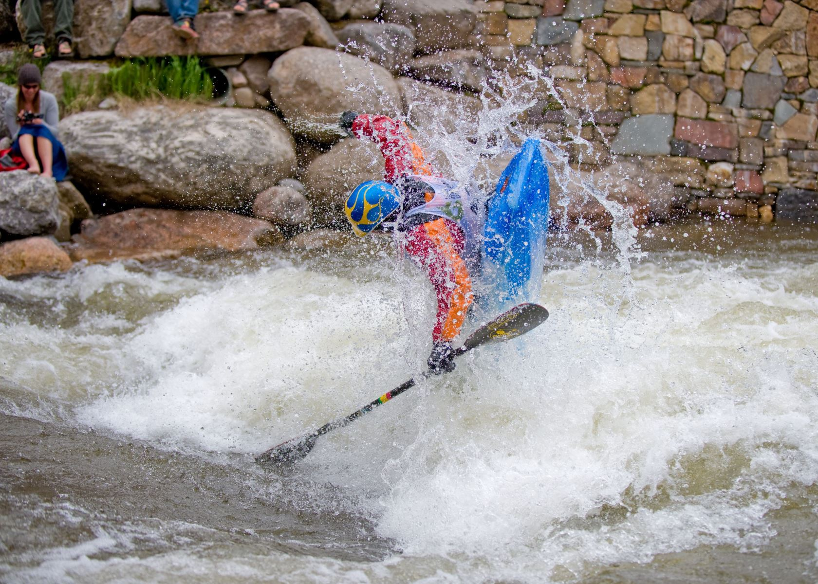 Go Pro Games Kayaker in Vail Colorado on River