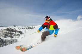 Skier at Vail Mountain Colorado