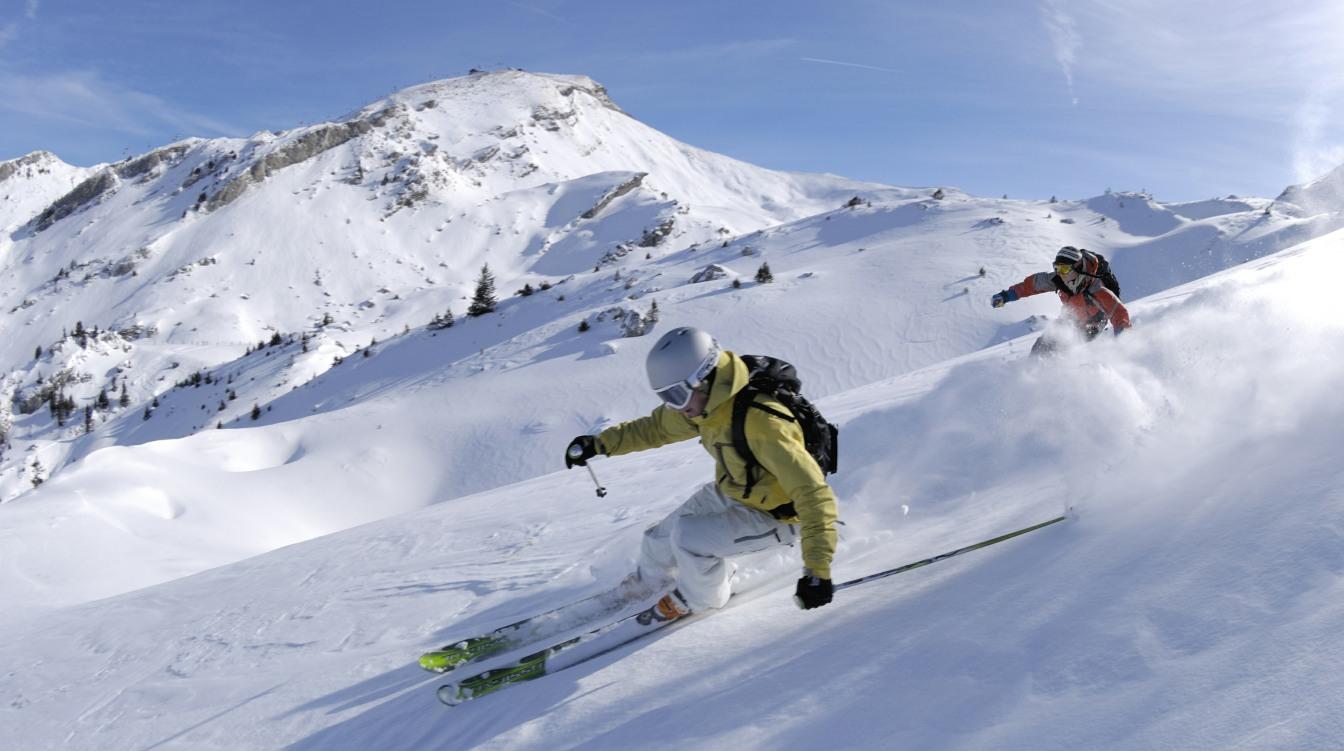 Skiers in Vail Colorado