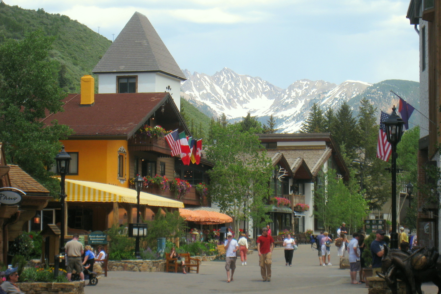Summertime in Vail village